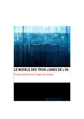 Prise de position 2020 - Modèle des Trois Lignes / IIA page 1