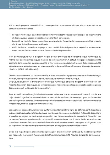 Guide des risques cyber - Ifaci 2.0 / 2020 page 10