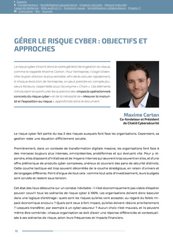 Guide des risques cyber - Ifaci 2.0 / 2020 page 12