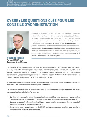 Guide des risques cyber - Ifaci 2.0 / 2020 page 14
