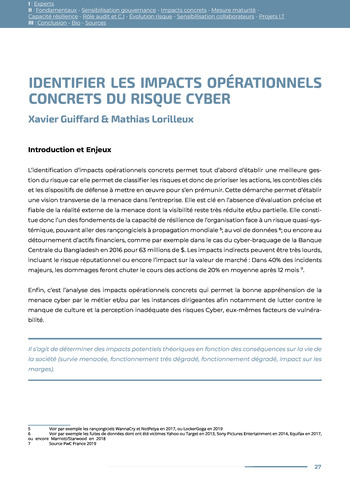 Guide des risques cyber - Ifaci 2.0 / 2020 page 27