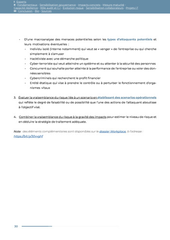 Guide des risques cyber - Ifaci 2.0 / 2020 page 30
