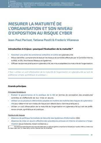 Guide des risques cyber - Ifaci 2.0 / 2020 page 31