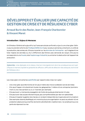 Guide des risques cyber - Ifaci 2.0 / 2020 page 36
