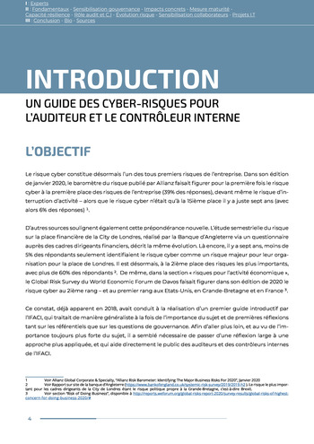 Guide des risques cyber - Ifaci 2.0 / 2020 page 4
