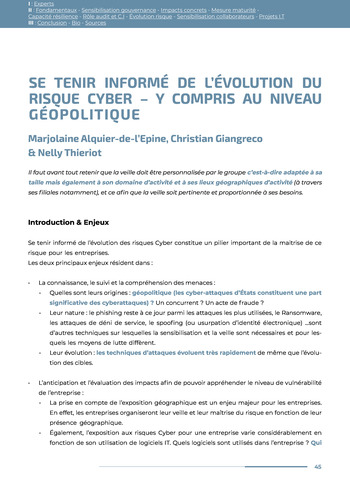 Guide des risques cyber - Ifaci 2.0 / 2020 page 45