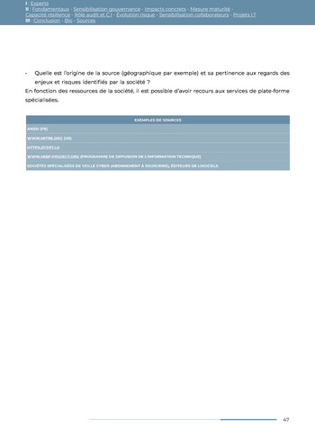 Guide des risques cyber - Ifaci 2.0 / 2020 page 47