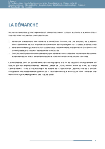 Guide des risques cyber - Ifaci 2.0 / 2020 page 5