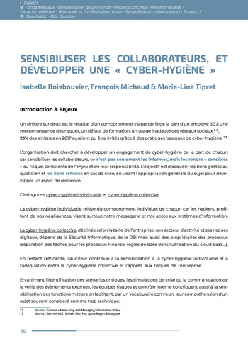 Guide des risques cyber - Ifaci 2.0 / 2020 page 50