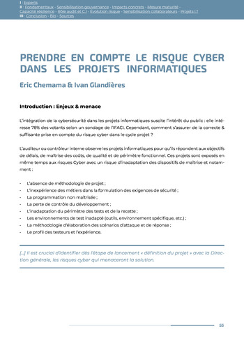 Guide des risques cyber - Ifaci 2.0 / 2020 page 55