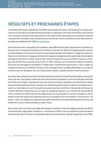Guide des risques cyber - Ifaci 2.0 / 2020 page 8