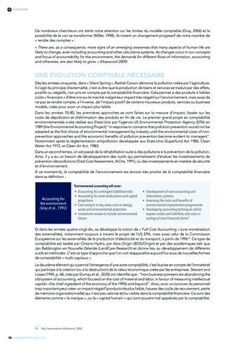 Quelles connexions entre la comptabilité financière et le non-financier ? / Version longue / Audencia page 10