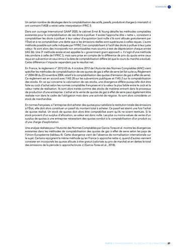Quelles connexions entre la comptabilité financière et le non-financier ? / Version longue / Audencia page 27