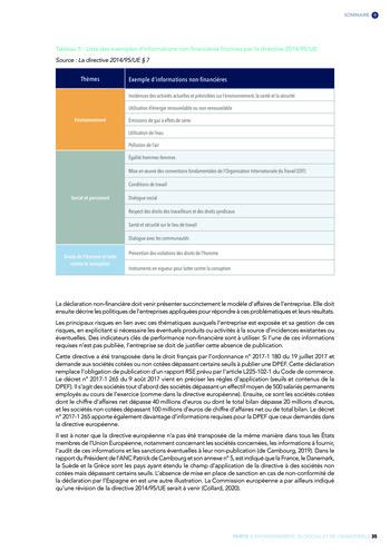 Quelles connexions entre la comptabilité financière et le non-financier ? / Version longue / Audencia page 35