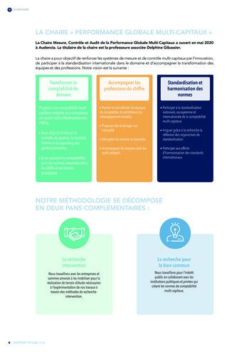 Quelles connexions entre la comptabilité financière et le non-financier ? / Version longue / Audencia page 4