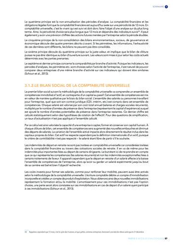 Quelles connexions entre la comptabilité financière et le non-financier ? / Version longue / Audencia page 57
