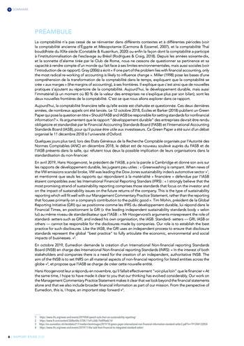 Quelles connexions entre la comptabilité financière et le non-financier ? / Version longue / Audencia page 6