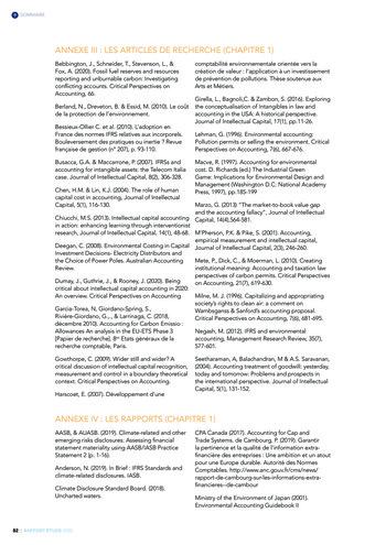 Quelles connexions entre la comptabilité financière et le non-financier ? / Version longue / Audencia page 82