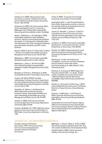 Quelles connexions entre la comptabilité financière et le non-financier ? / Version longue / Audencia page 86