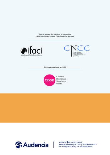 Quelles connexions entre la comptabilité financière et le non-financier ? / Version longue / Audencia page 90