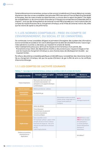 Quelles connexions entre la comptabilité financière et le non-financier ? / Synthèse / Audencia page 10