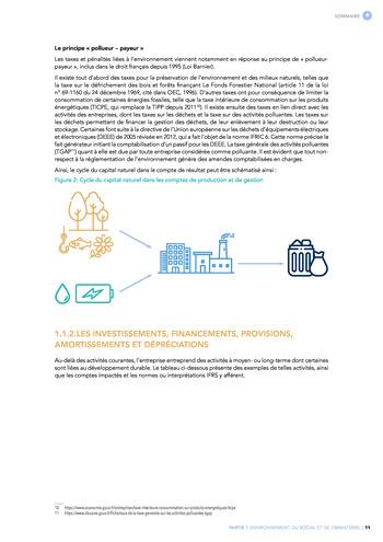 Quelles connexions entre la comptabilité financière et le non-financier ? / Synthèse / Audencia page 11