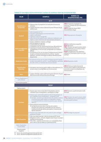 Quelles connexions entre la comptabilité financière et le non-financier ? / Synthèse / Audencia page 12