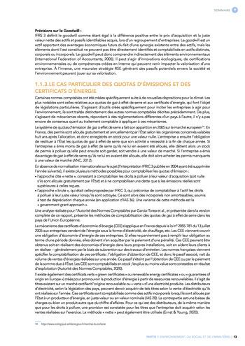 Quelles connexions entre la comptabilité financière et le non-financier ? / Synthèse / Audencia page 13