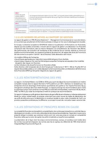 Quelles connexions entre la comptabilité financière et le non-financier ? / Synthèse / Audencia page 15