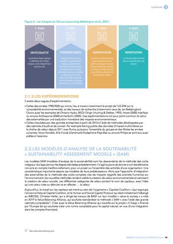 Quelles connexions entre la comptabilité financière et le non-financier ? / Synthèse / Audencia page 19