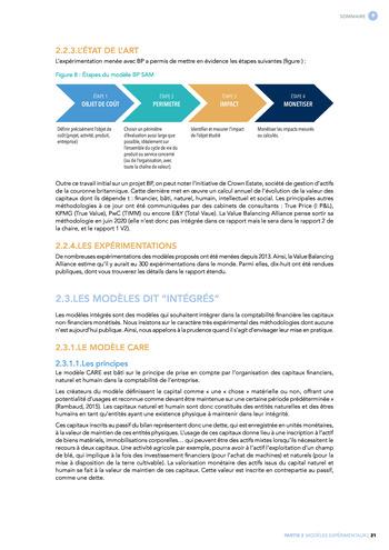 Quelles connexions entre la comptabilité financière et le non-financier ? / Synthèse / Audencia page 21