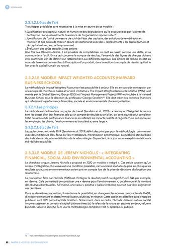 Quelles connexions entre la comptabilité financière et le non-financier ? / Synthèse / Audencia page 22