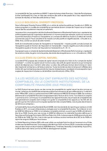 Quelles connexions entre la comptabilité financière et le non-financier ? / Synthèse / Audencia page 28