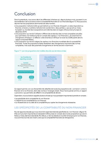 Quelles connexions entre la comptabilité financière et le non-financier ? / Synthèse / Audencia page 29