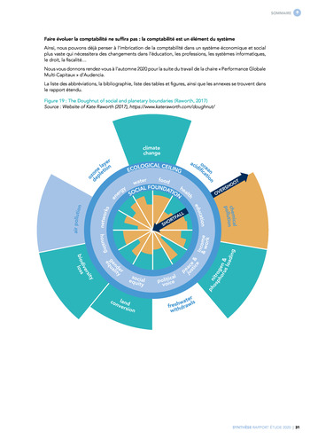 Quelles connexions entre la comptabilité financière et le non-financier ? / Synthèse / Audencia page 31