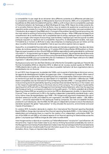 Quelles connexions entre la comptabilité financière et le non-financier ? / Synthèse / Audencia page 4