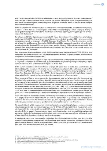 Quelles connexions entre la comptabilité financière et le non-financier ? / Synthèse / Audencia page 5