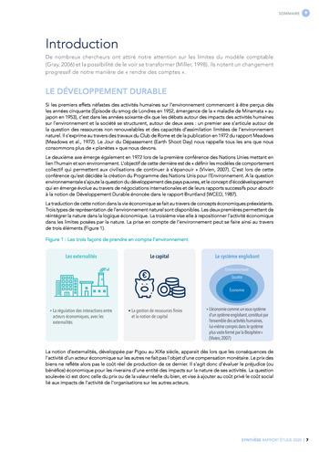 Quelles connexions entre la comptabilité financière et le non-financier ? / Synthèse / Audencia page 7