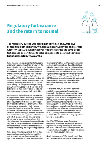 Risk in Focus 2021 - Full Report page 17