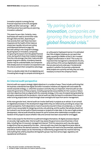 Risk in Focus 2021 - Full Report page 21