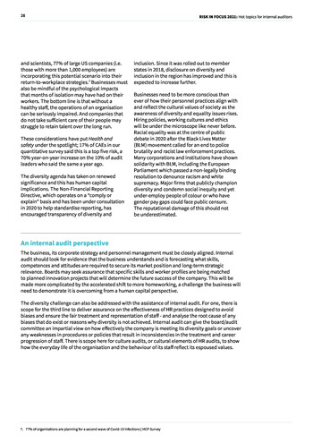 Risk in Focus 2021 - Full Report page 28