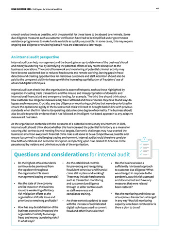 Risk in Focus 2021 - Full Report page 45