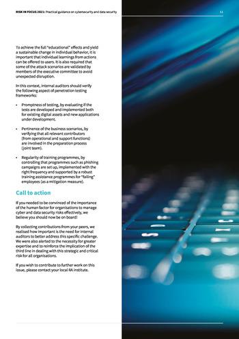 Risk in Focus 2021 - Guide pratique - Cybersecurité et sécurité des données page 11