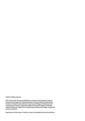Risk in Focus 2021 - Guide pratique - Cybersecurité et sécurité des données page 2