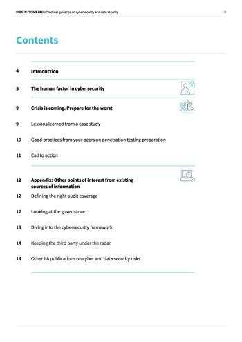 Risk in Focus 2021 - Guide pratique - Cybersecurité et sécurité des données page 3