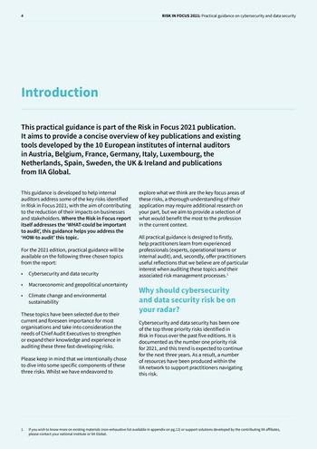 Risk in Focus 2021 - Guide pratique - Cybersecurité et sécurité des données page 4