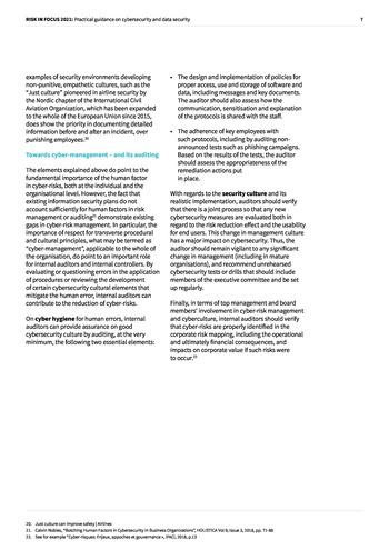 Risk in Focus 2021 - Guide pratique - Cybersecurité et sécurité des données page 7