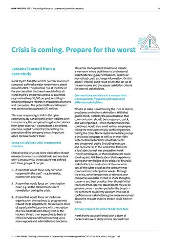 Risk in Focus 2021 - Guide pratique - Cybersecurité et sécurité des données page 9