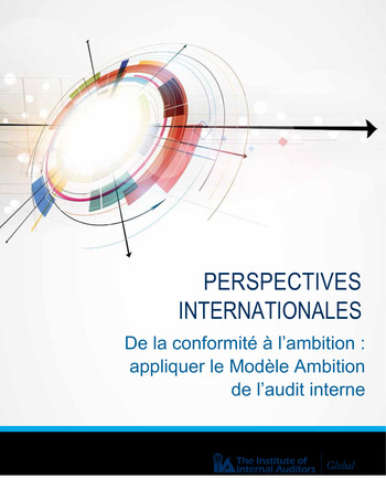 Perspectives internationales - De la conformité à l'ambition page 1