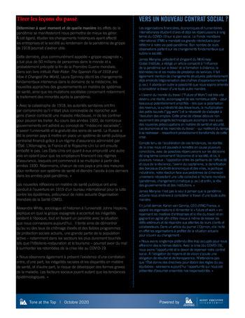 Tone at the top 101 - Quels enseignements tirer de la pandémie de COVID-19 - Octobre 2020 page 3